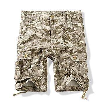 OCHENTA Men s Military Camo Cargo Shorts 6 Pockets Casual Work Outdoor Wear Camo S 36