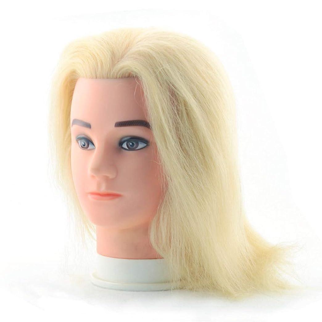 不忠何故なの通行人理髪店の男性の化粧本物の人の毛のダミーの頭の編集ヘアプラクティスモデルの頭を染色することができます頭金