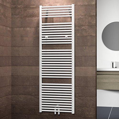 Schulte Badheizkörprer Bavaria, Mittelanschluss unten, 177 x 60 cm, alpin-weiß,  Design-Heizkörper für Zweirohr-System