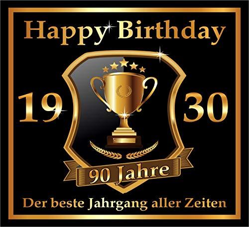 RAHMENLOS 3 St. Aufkleber zum 90. Geburtstag: 1930 der Beste Jahrgang Aller Zeiten - Selbstklebendes Flaschen-Etikett. Original Design
