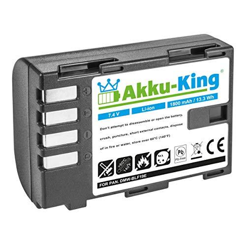 Akku-King Akku kompatibel mit Panasonic DMW-BLF19 - Li-Ion 1800mAh - für Lumix DMC-GH3 DMC-GH3, DMC-GH4 DMC-GH4, DMC-GH4A, DMC-GH4H, DMC-GH4M, DMC-GH4R