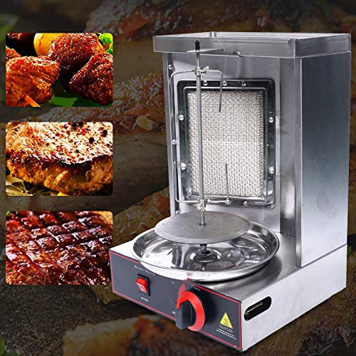 Machine à barbecue vertical à gaz, en acier inoxydable, machine à kebab, broiler...