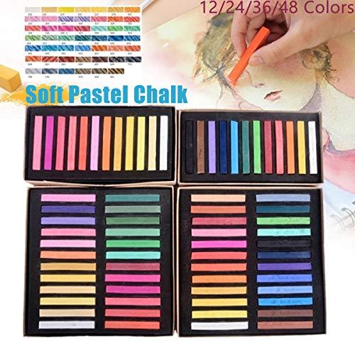 MZY1188 12/24/36/48 Colores Tiza Pastel Suave, Pintura de Menor adherencia Tiza Graffiti Dibujo Liso Regalo para niños Tiza crayones papelería