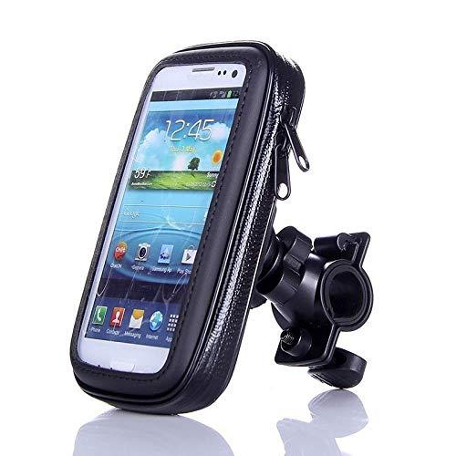 Bicicleta Soporte para Teléfono De Motocicleta Funda Impermeable Bolsa De Teléfono para Bicicleta para iPhone XS 11 Samsung S8 S9 Soporte Móvil Soporte para Scooter (XL Size)