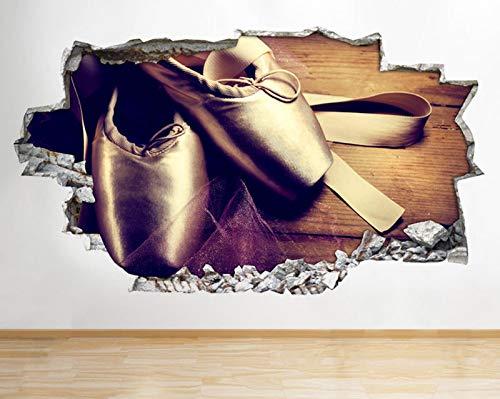 R356 Leuke Ballet Pompen Schoenen Dans Verpletterd Muursticker 3D Art Stickers Vinyl RoomLarge