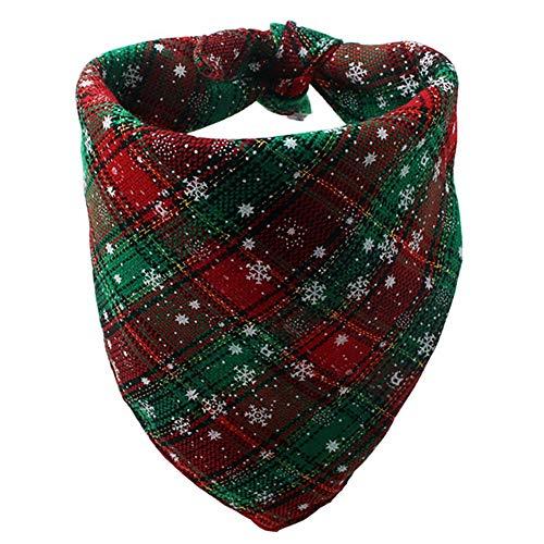 Savlot halsdoek voor honden, Kerstmis, honden, polyester, katoen, bandana, drieang, slabbetjes, hond, sjaal, zakdoeken, M, Groen