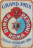 None Branded Grand Prix Birra Peroni Roma Targa in Metallo Decorazioni murali retrò in Metallo Poster Dipinti artistici Decorazione