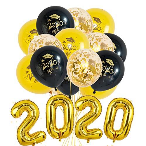 Abschluss Deko 2020 - Abschlussfeier Luftballons, Graduation Ballon Helium für Graduierung Schulabschluss Abi Abitur Studium, Graduation Party Decorations,19 Stück