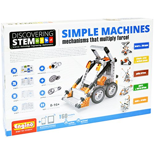 Engino Discovering STEM Simple Machines Mechanisms That Multiply Force   60 Working Models   Illustrated Instruction Manual   Theory & Facts   Experimental Activities   STEM Construction Kit