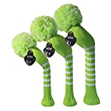 Scott Edward Golf Headcovers for Woods Set of 3 Fits Well Driver(460cc) Fairway Wood and Hybrid(UT) The Perfect Change for Golf Bag (Lime Green)