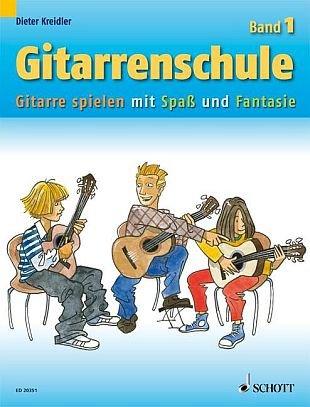 Gitarrenschule Band 1 - Gitarre spielen mit Spaß und Fantasie - Neufassung + Gitarren-Notenfinder - Dieter Kreidlers neue Gitarrenschule wendet sich vor allem an Kinder und Jugendliche, die in kleinen Lernschritten das Gitarrenspiel lernen möchten. Noten/sheet music