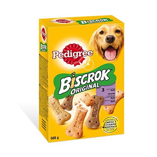 Biscrock - Biscotti per cani, 500 g, confezione da 12