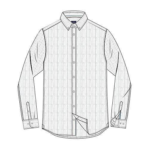 Hackett GRPH CK PLC Eng Str BS Camisa, Multicolor (Blue/White 5ar), XX-Large...