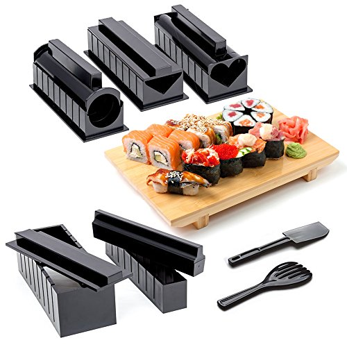 11-Piezas Kit Completo para Hacer Sushi con Sushi Maker, 5 M