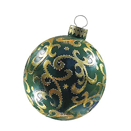 Palle di Natale 60 cm Grandi palle di Natale Decorazioni dell'albero di Natale Atmosfera da esterno Atmosfera gonfiabile Baubles giocattoli for la casa regalo palla ornamento ornamenti palle Sfere per