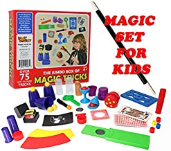 Smart Novelty Kids Magic Trick Set with Wand, Cards and More Magic Toys - Easy Magic Tricks for Beginners and Children - Awesome Magic Set with 75 Magic Tricks for Kids Ages 6-10 Boys Girls