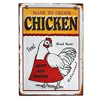 【USA アメリカン デザイン】CHICKEN チキン キッチン レストラン カフェ サインボード ビンテージ インテリア 看板 ; AVSB-314