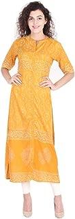 Vihaan Impex Indian Tunic Long Rayon Block Print Women Dress Partywear Kurti for Women