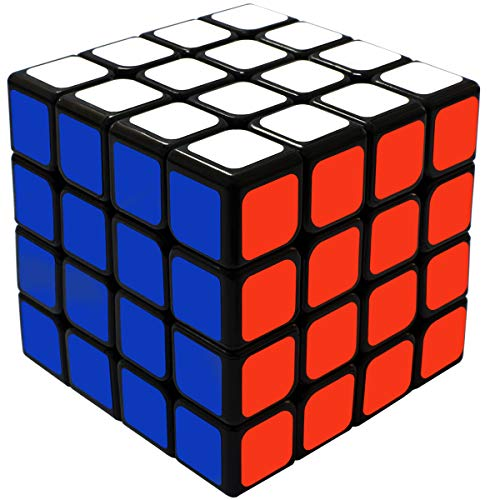 Maomaoyu Zauberwürfel 4x4 4x4x4 Original Speed Cube Magic Cube Puzzle Magischer Würfel PVC Aufkleber für Schneller und Präziser mit Lebendigen Farben(Schwarz)