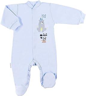 Eevi Family - Newborn Baby Strampler - Mädchen Jungen Unisex - Langarm - Baumwolle - Füßchen