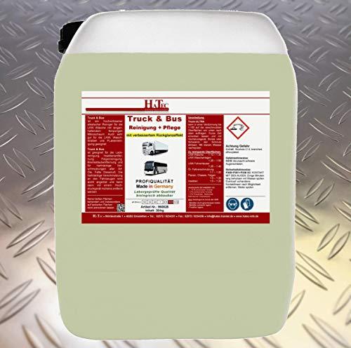 HaTec LKW Reiniger, Truck & Bus Reinigung+Pflege 30 kg/Kanister mit verbessertem Rückglanzeffekt, Lkwreiniger, Truckreiniger, Planenreiniger, Insektenentferner, Busreiniger, Innenraumreiniger
