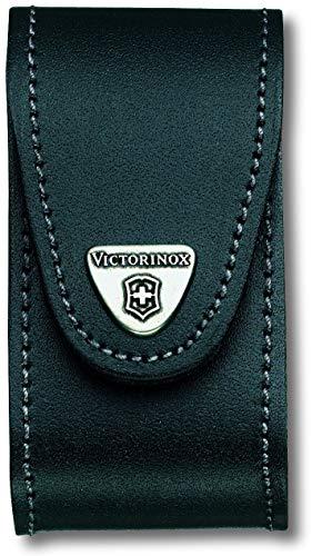 Victorinox Leder-Etui (für Taschenmesser, Gürtelschlaufe, Klettverschluss, schwarz, 4,9cm x 9,8cm) schwarz