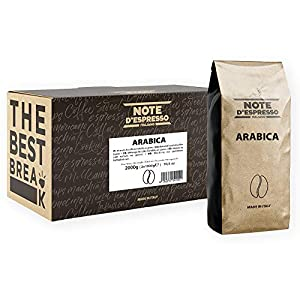 Note D'Espresso Café arábica En Grano - 2 x 1000 g, Total: 2000 g