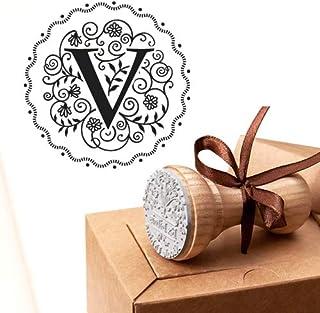 Timbro Lettera V Iniziali Timbri Lettere Alfabeto Monogramma V Idee Regalo Aziendale