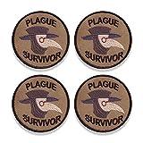 Parche de superviviente de plaga, parche de insignia de mérito superviviente, parche de insignia de bordado pegatinas para planchar, coser, ropa, chaqueta, sombrero (4Pcs)