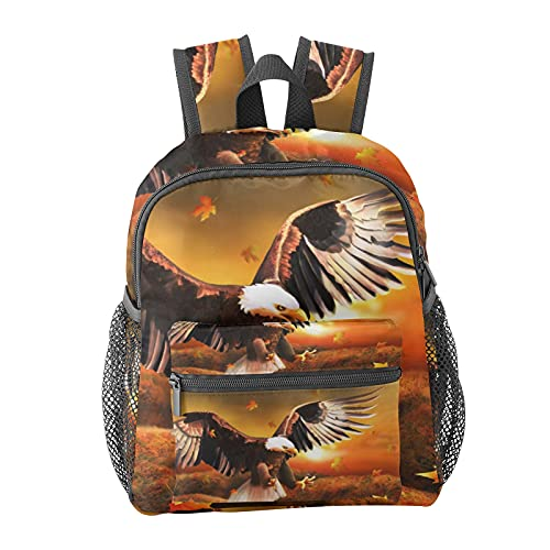 Eagle Bird Leaves Backpack for Boys and Girls Perfect Size for Travel
