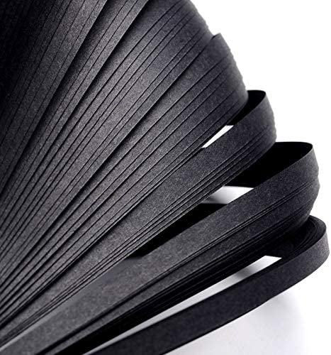 Be super welcome Paper Quilling Strips Black 53cm 110+ 5mm Ranking TOP12 Pack of x