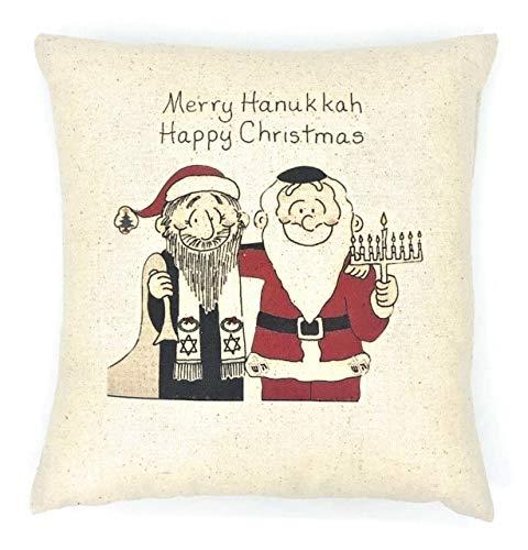 Celebrate Both Interfaith Pillow Christmas and Hanukkah