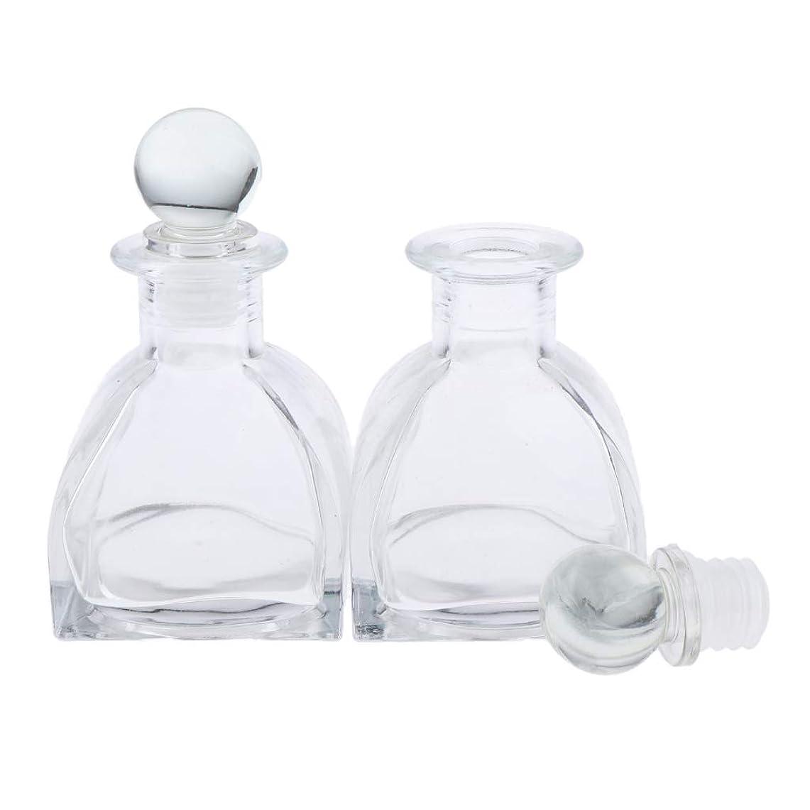 踊り子三十急襲P Prettyia 2個 香水ディフューザーボトル DIY リードエッセンシャルオイル ガラスディフューザー瓶 3サイズ選べ - 130ミリリットル