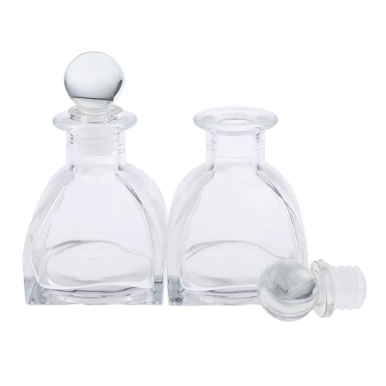 決めます不器用メモP Prettyia 2個 香水ディフューザーボトル DIY リードエッセンシャルオイル ガラスディフューザー瓶 3サイズ選べ - 130ミリリットル