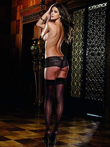 Dreamgirl Women's Thigh-High Stockings with Back Seam