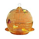 Vogelkäfig käfig Stilvoller und exquisiter runder Papageienkäfig Dekorierter Ziervogelkäfig...