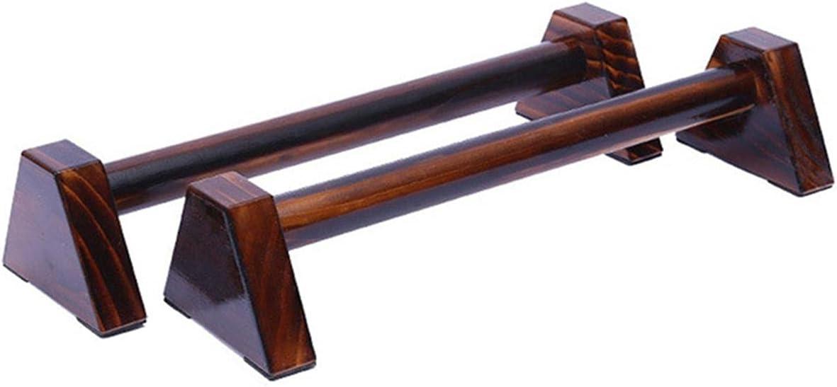 EANSSN Wood Push-Ups Stand, Calisthenics Handstand Bar, Fitness