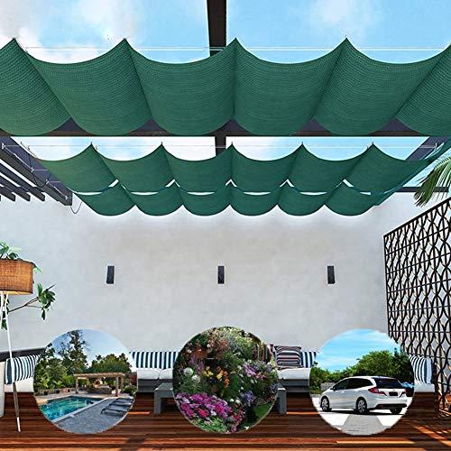 BAIYING Malla Sombra De Red Toldo Protector Solar Respirable Versión Mejorada Toldo retráctil jardín Cochera Fácil de Instalar, Tamaño Personalizable (Color : Green, Size : 0.8x6m)