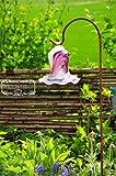 Gartenkugel Tulpe Tropfen, Blume mit Hakenhalter Schäferstab Winterfest & ROBUST Glas-Dekoration Blüte Gartentulpe Glocke Rosenkugel 17 cm Gross Form Tulpe, modisches Tulpendesign handgefertigt mit