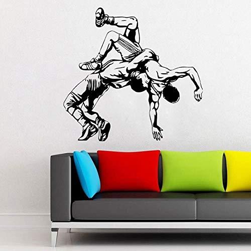 Sparring Fighting Shooting Wrestling Vinyl Wandaufkleber Indoor Home Decoration Aufkleber 59x57cm