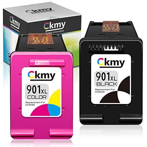 CKMY HP 901 901XL - Cartuchos de tinta para HP OfficeJet 4500, J4580, G510n, J4680, J4624, J4524, G510g, G510a, G510b, G510h y J4525, color negro