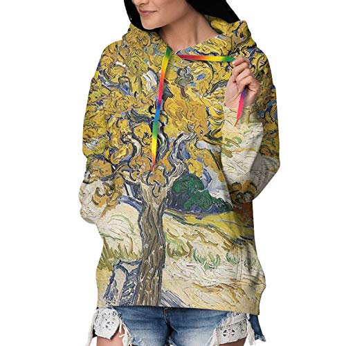Mulberry Tree Hoodie For Women With Kangraoo Pocket Thick Pullover Sweatershirt