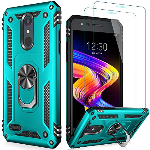 LUMARKE Tribute Empire Case with Screen Protector,Aristo 3 Case,Aristo 2/2 Plus/Zone 4/Rebel 4 LTE/Phoenix 4/Tribute Dynasty Case,Shockproof Cover with Kickstand Protective Phone Case Turquoise
