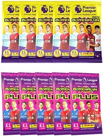 2020 21 Panini Adrenalyn Premier League Plus Cards 10 Pack Set 5 Packs of EPL Adrenalyn Cards product image