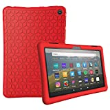 Famavala Silicone Case Cover Compatible with All-New 8' Fire HD 8 / Plus (10th Generation 2020 Release) Tablet (Red)