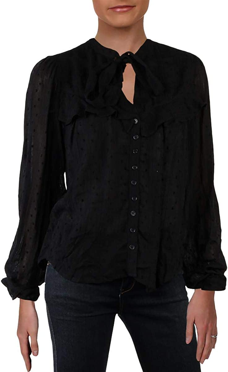 Free People Womens Blissful Beginnings Button Down Blouse