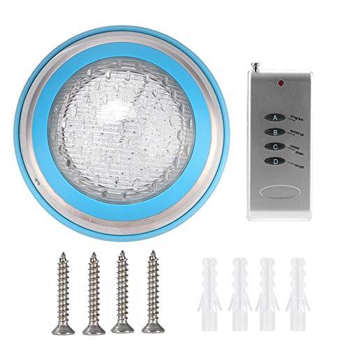 FOTABPYTI Luz subacuática, Material abs, Impermeable, bajo Consumo de energía, luz subacuática LED, fácil de Instalar para Piscina de Estanque de Peces de rocalla doméstica