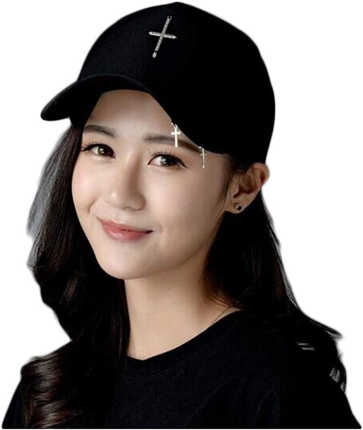 Guyuexuan Hat, Fashion Men's and Women's Dome Baseball Cap, Outdoor Sports Cap, Black 14  7.5CM, Perimeter 5559CM, The for Friends and Family