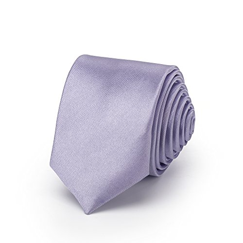 Rusty Bob - Attachez mince 3cm-5cm / étroit pour les hommes [pour les enfants/garçon] (collège, pas rayé) polyester brille comme de la soie - Flieder