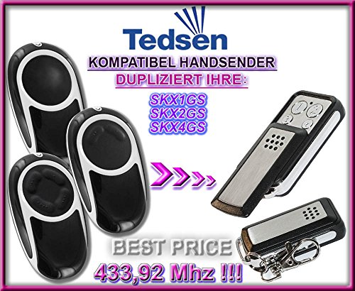 Tedsen SKX1GS, SKX2GS, SKX4GS kompatibel handsender, klone fernbedienung, 4-kanal 433,92Mhz fixed code. Top Qualität Kopiergerät!!!